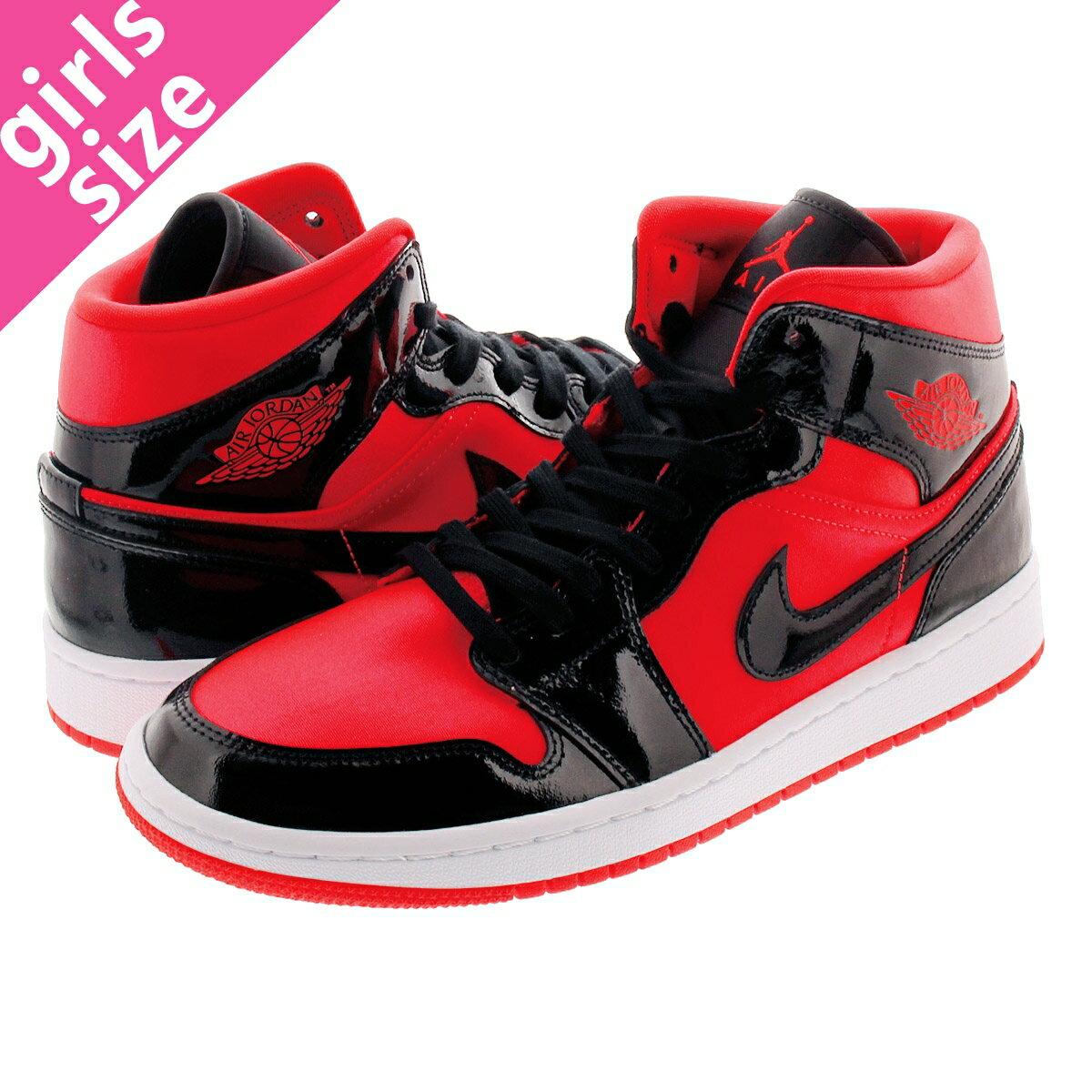 レディース靴, スニーカー NIKE WMNS AIR JORDAN 1 MID 1 HOT PUNCHBLACK bq6472-600