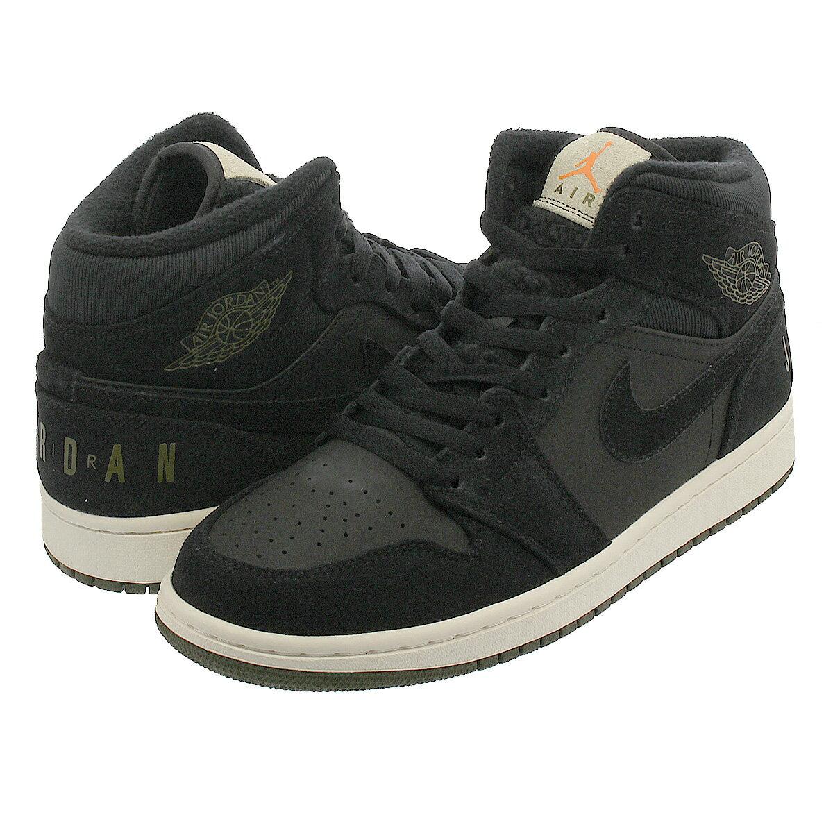 メンズ靴, スニーカー  NIKE AIR JORDAN 1 MID 1 BLACKOLIVE CANVASSAILCONE bq6579-001