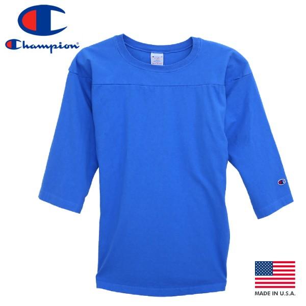 トップス, Tシャツ・カットソー  CHAMPION T-1011 34 SLEEVE FOOTBALL MADE IN U.S.A. T-1011 34 LIGHT BLUE