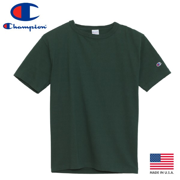トップス, Tシャツ・カットソー CHAMPION T-1011 US T-SHIRTS MADE IN U.S.A. T1011 US T MOSS GREEN c5-p301-560