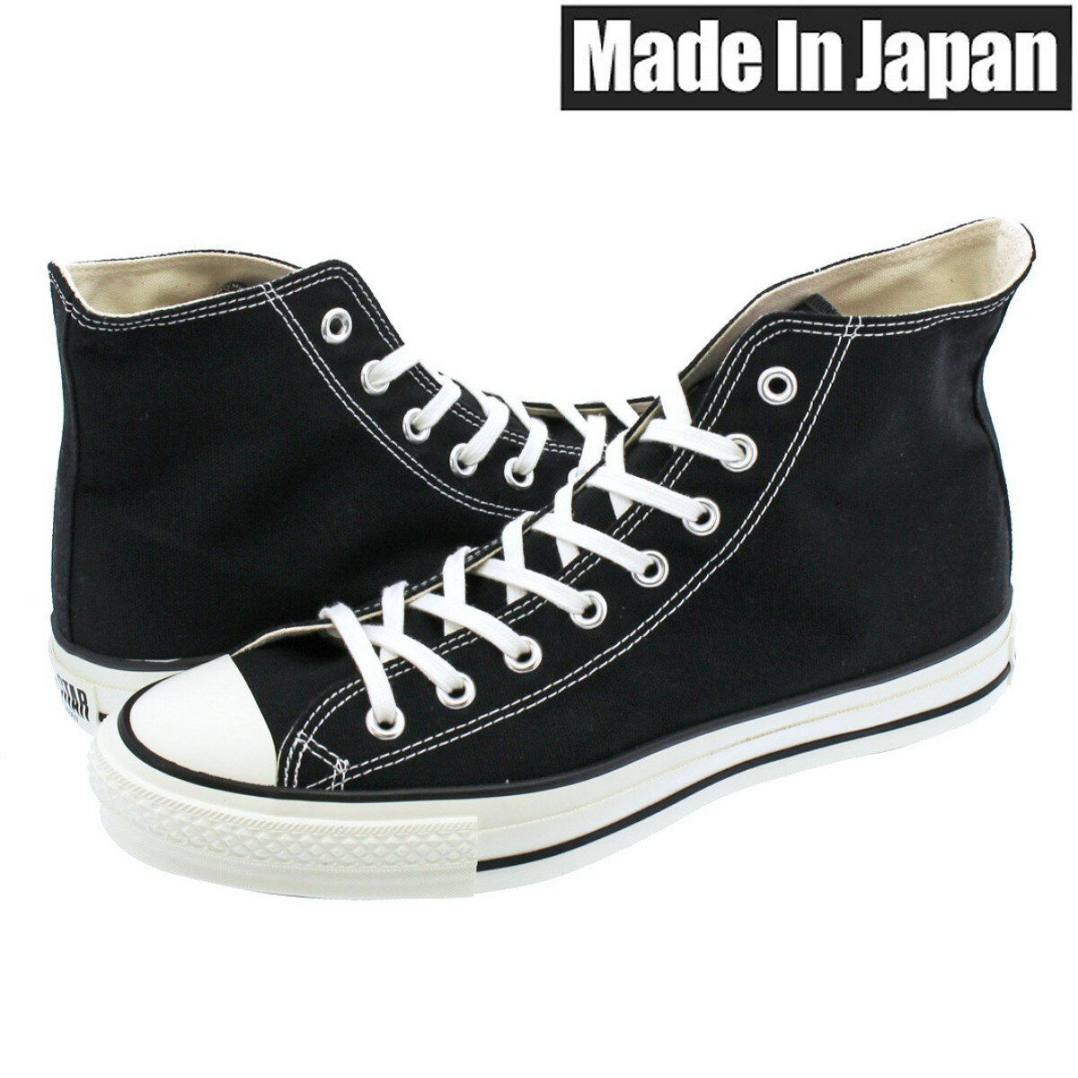 メンズ靴, スニーカー CONVERSE CANVAS ALL STAR J HI MADE IN JAPAN J HI BLACK