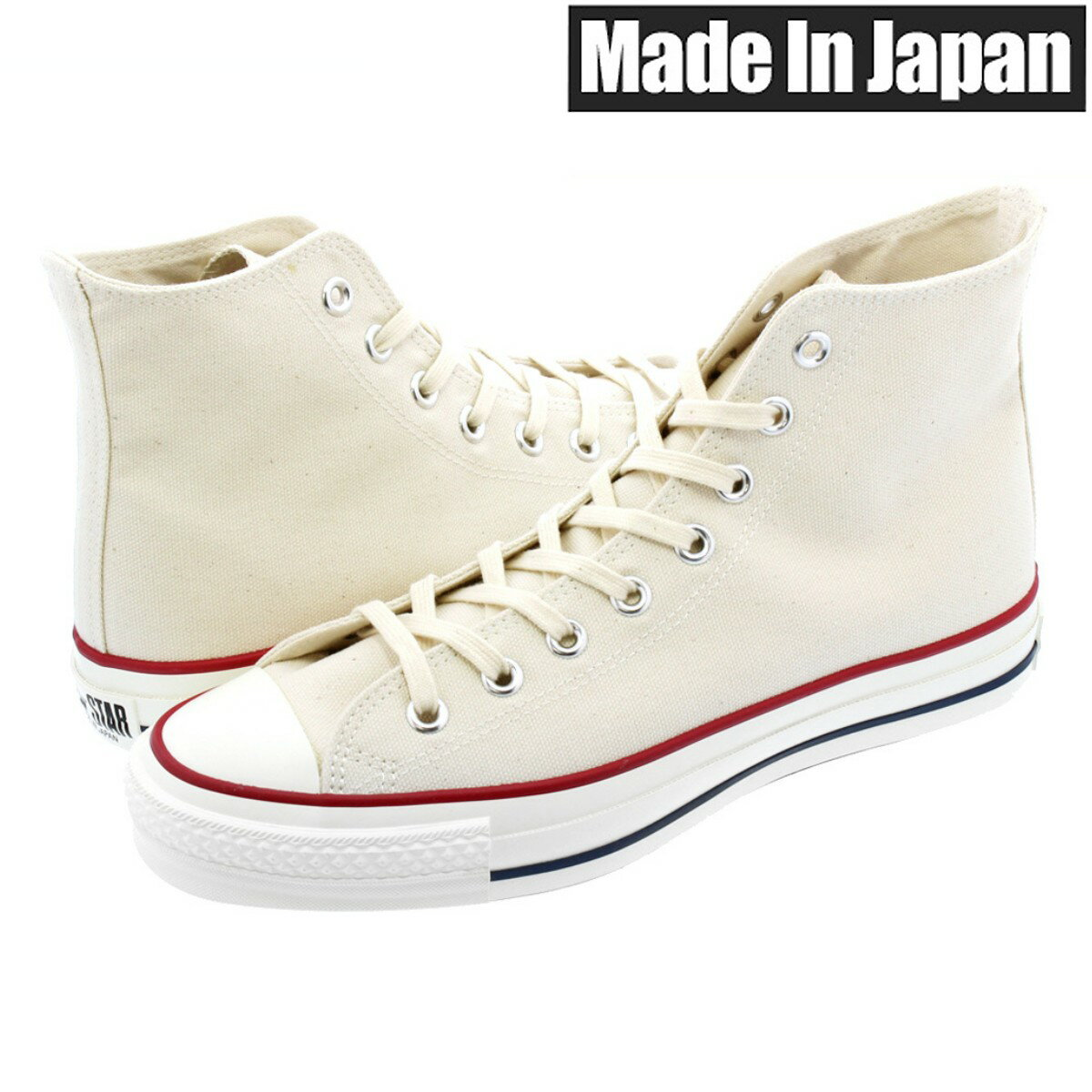 メンズ靴, スニーカー CONVERSE CANVAS ALL STAR J HI MADE IN JAPAN J HI NATURAL WHITE