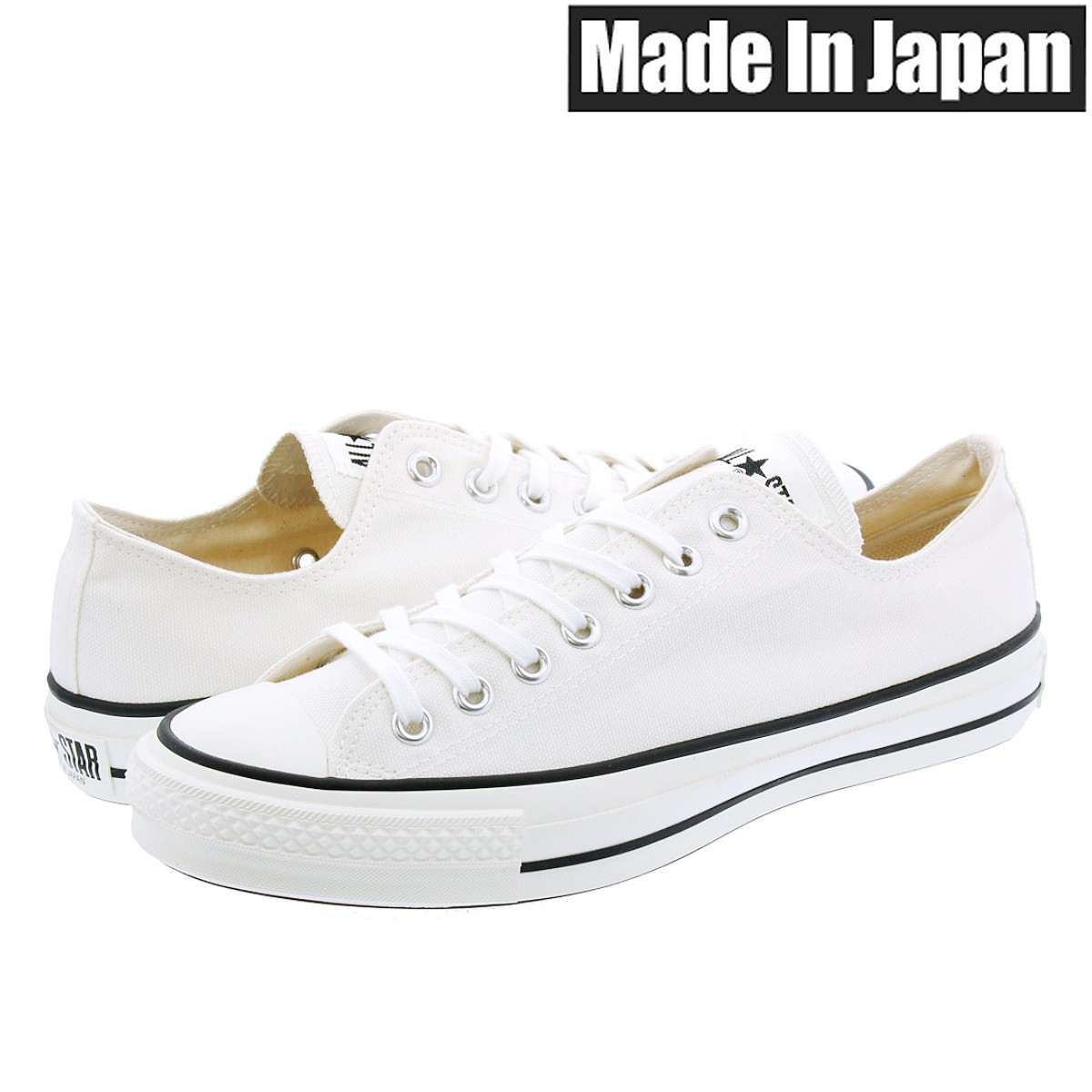 メンズ靴, スニーカー CONVERSE CANVAS ALL STAR J OX MADE IN JAPAN J OX WHITE