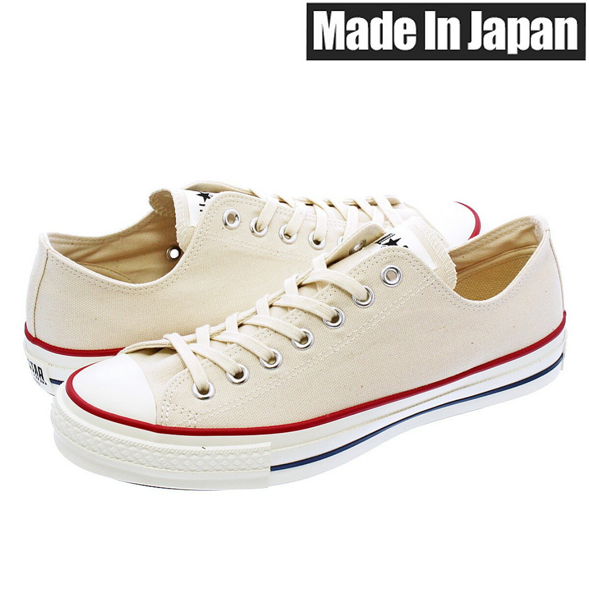 メンズ靴, スニーカー CONVERSE CANVAS ALL STAR J OX MADE IN JAPAN J OX NATURAL WHITE