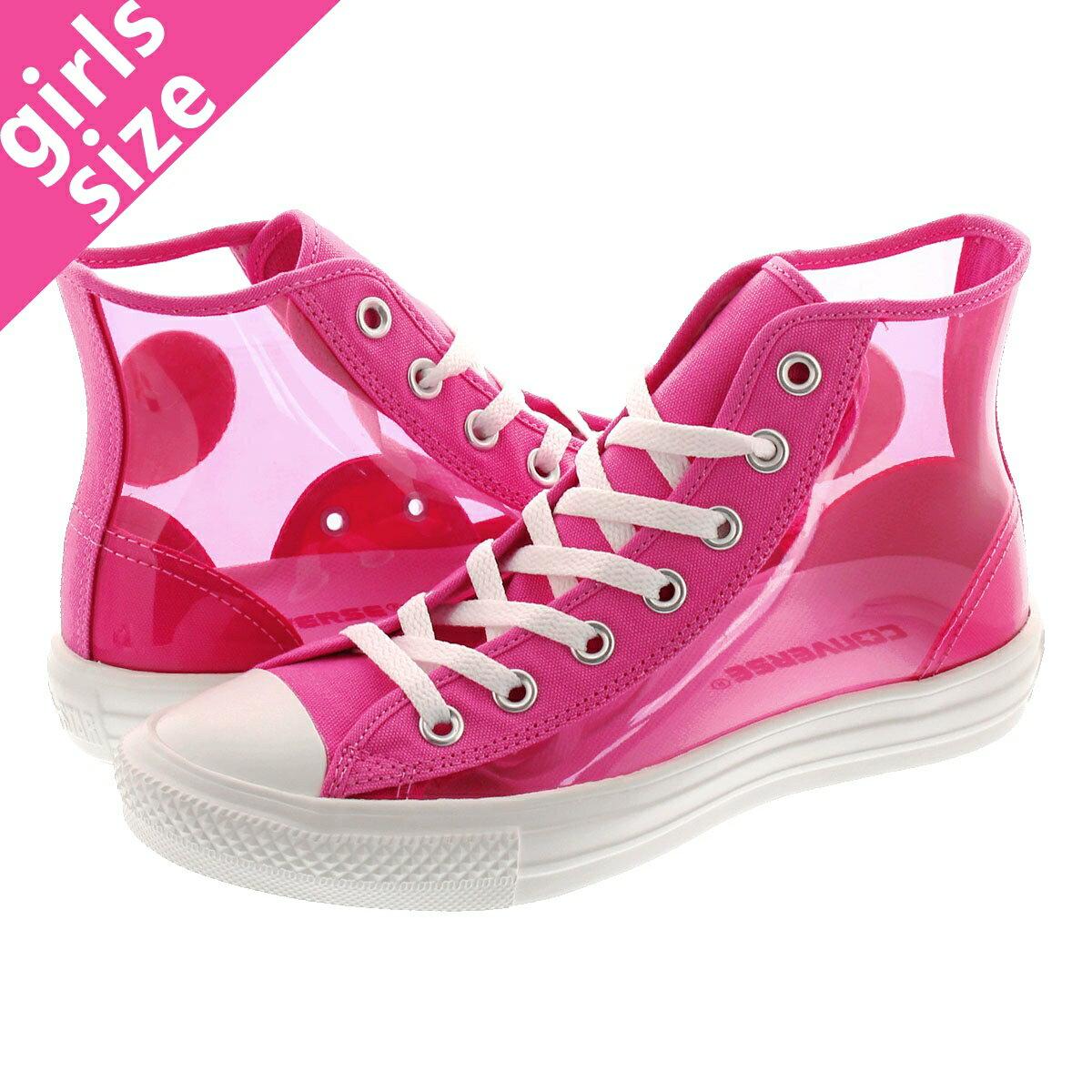 メンズ靴, スニーカー CONVERSE ALL STAR LIGHT CLEARMATERIAL HI PINK 31300440