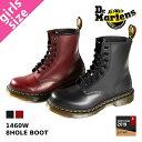 Dr.Martens 8HOLE BOOT 1460W ドクターマーチン レディース 8ホール ブーツ BLACK(R11821006) / CHERRY RED...