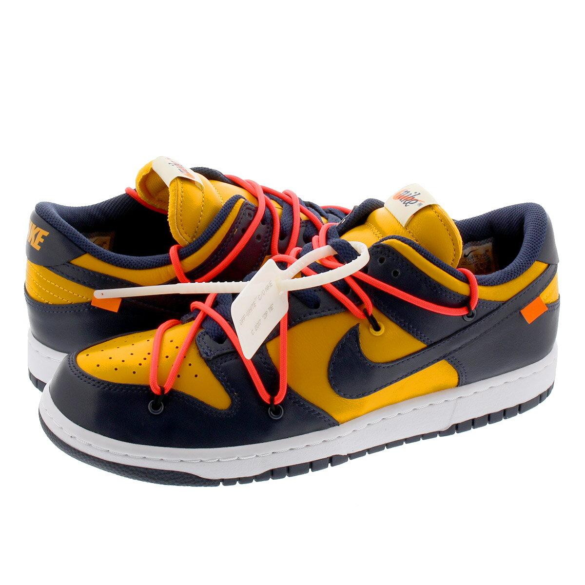 メンズ靴, スニーカー NIKE DUNK LOW LTHR OFF-WHITE UNIVERSITY GOLDMIDNIGHT NAVY ct0856-700