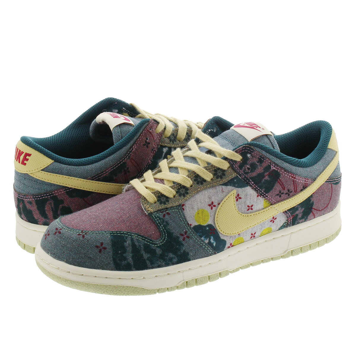 NIKE DUNK LOW SP 【COMMUNITY GARDEN】 ナイキ ダンク ロー SP MULTI COLOR/MIDNIGHT TURQUOISE/CARDINAL RED/LEMON WASH cz9747-900画像