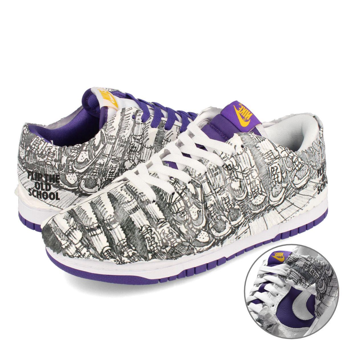 メンズ靴, スニーカー NIKE WMNS DUNK LOW SE FLIP THE OLD SCHOOL SE WHITEVARSITY PURPLEVARSITY MAZEBLACK dj4636-100