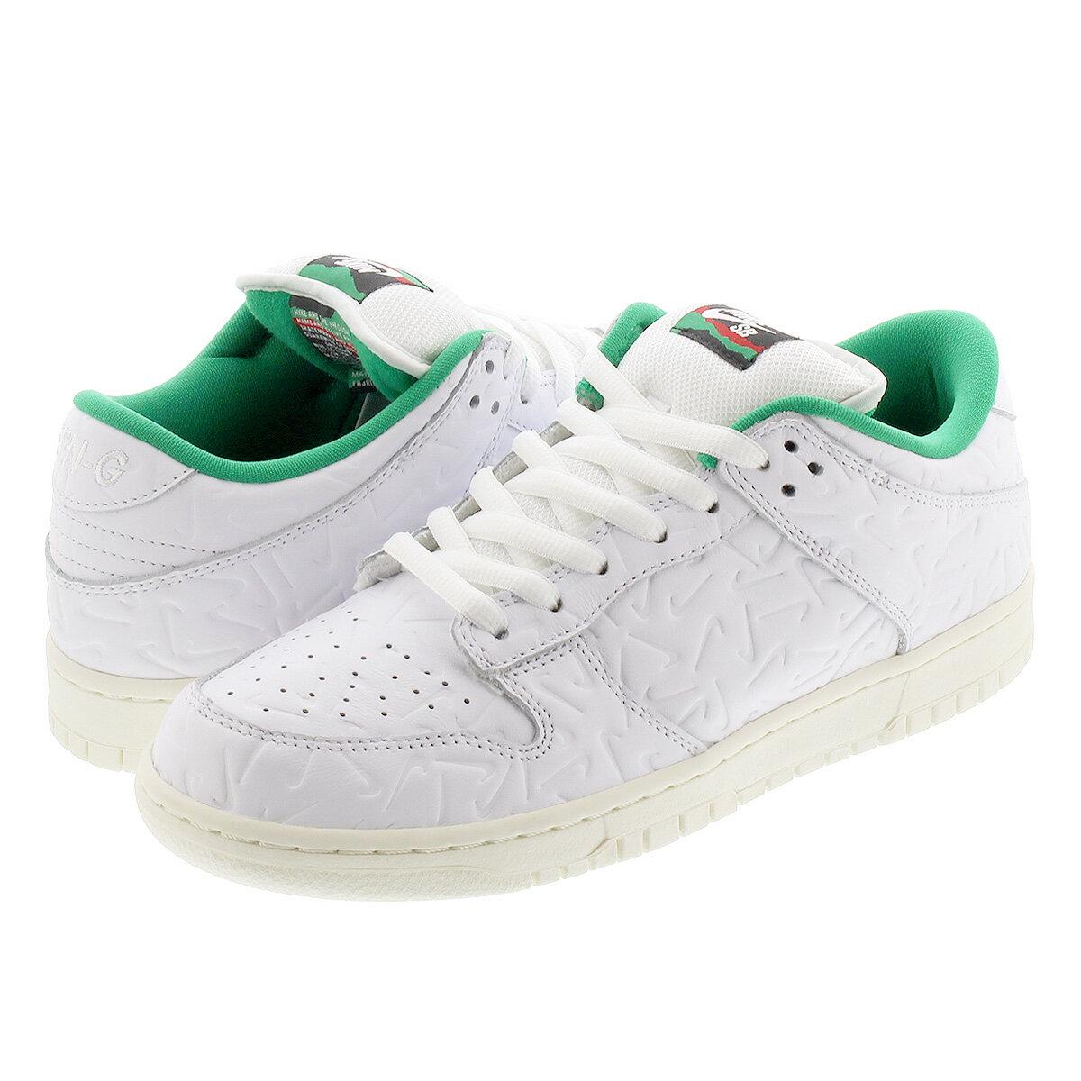 メンズ靴, スニーカー BEN-G x NIKE SB DUNK LOW OG QS 2 x SB QS 2 WHITEWHITELUCID GREENSAIL cu3846-100