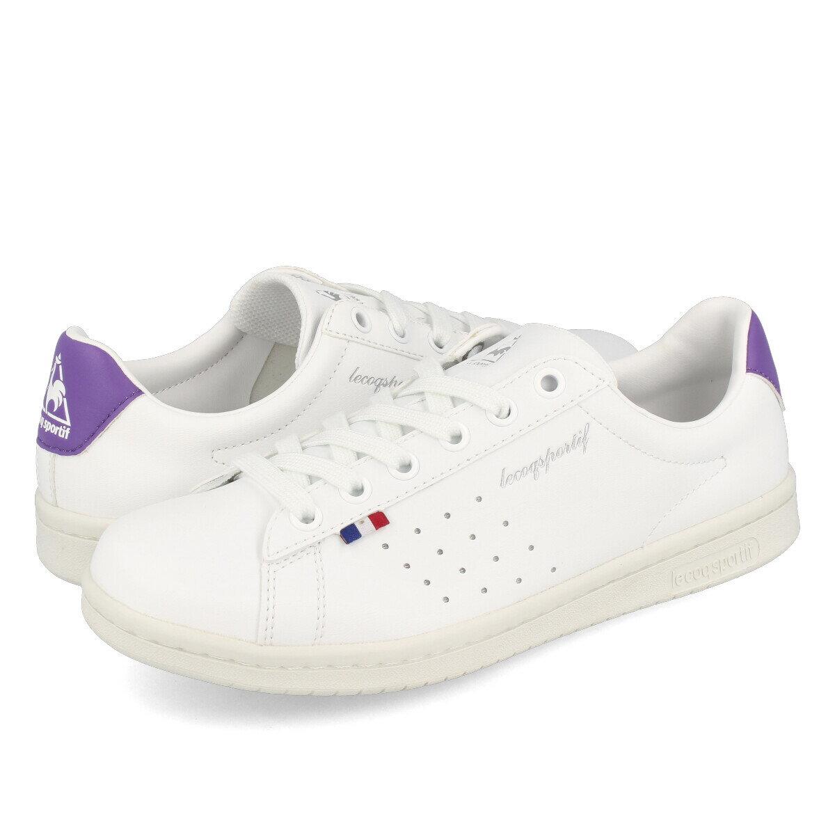 レディース靴, スニーカー le coq sportif LA ROLAND SL FEMININ LA SL WHITEPURPLE QL1SJC04WP