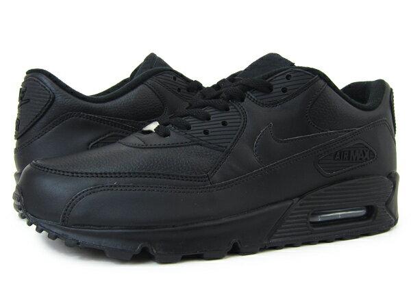 nike air max 90 leather black