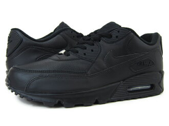NIKE AIR MAX 90 LEATHER BLACK/BLACK
