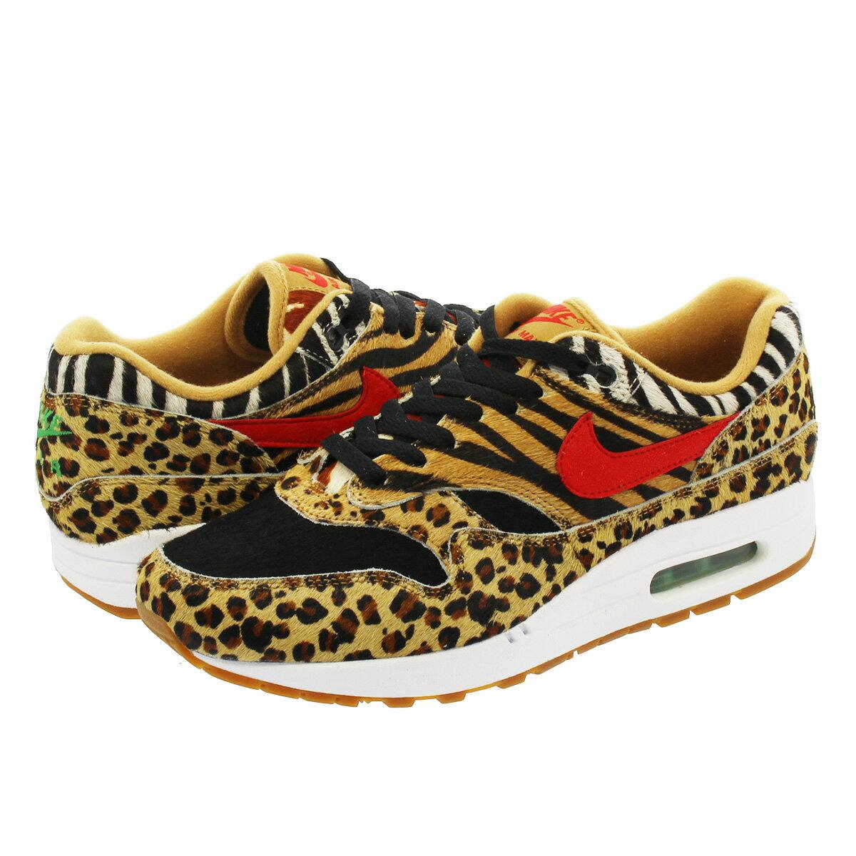 メンズ靴, スニーカー  NIKE AIR MAX 1 DLX atmosANIMAL PACK 1 DLX WHEATBISON CLASSIC GREENSPORT RED aq0928-700