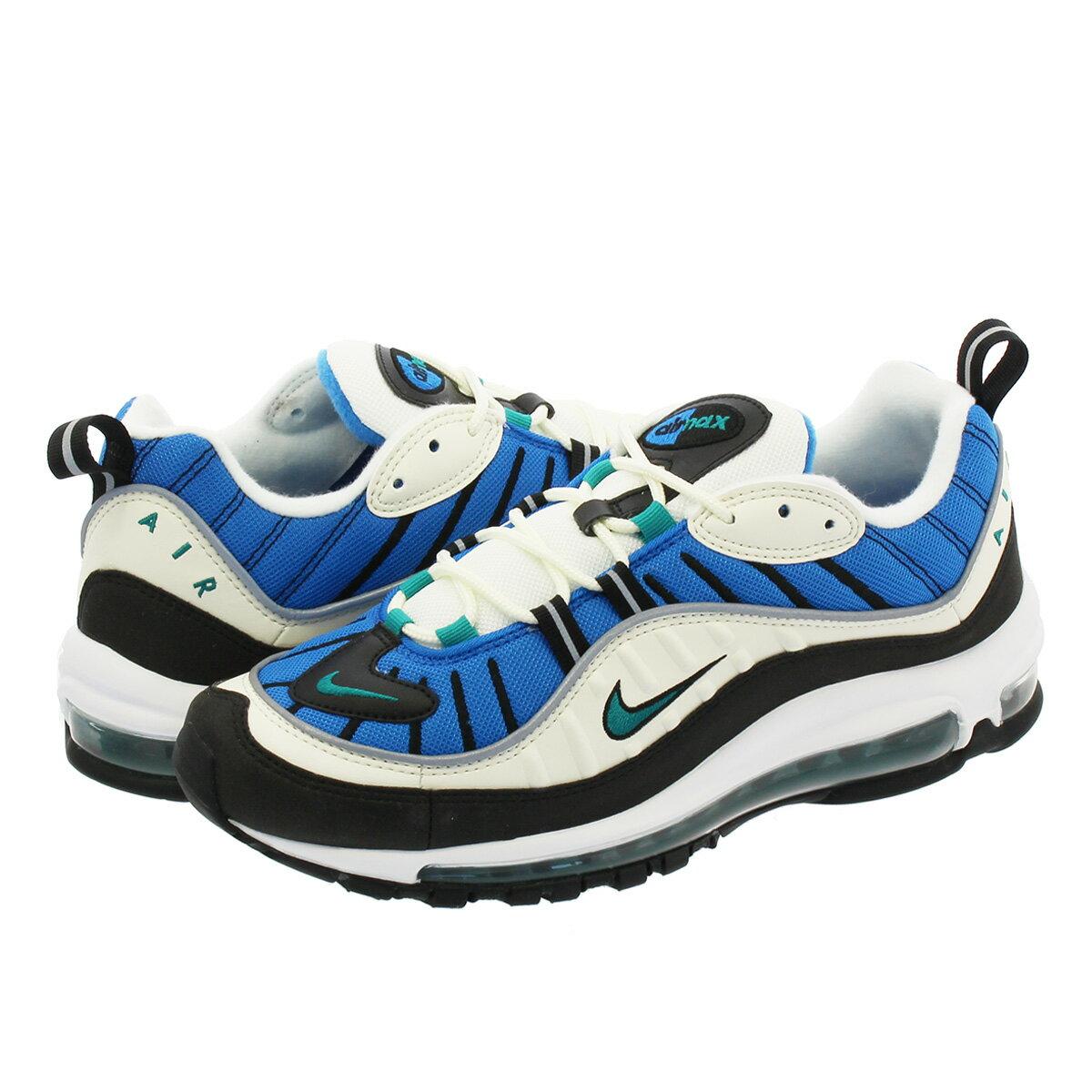 NIKE WMNS AIR MAX 98 Nike women Air Max 98 SAILRADIANT EMERALDBLUE NEBULA ah6799 106