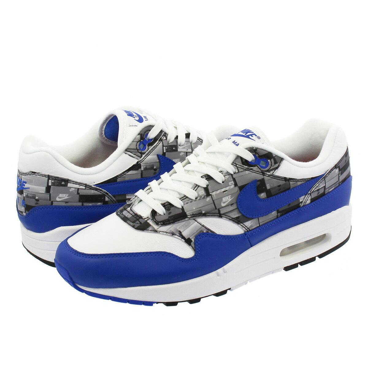 メンズ靴, スニーカー  NIKE AIR MAX 1 PRINT atmos WE LOVE NIKE 1 WHITEGAME ROYALNEUTRAL GREY aq0927-100