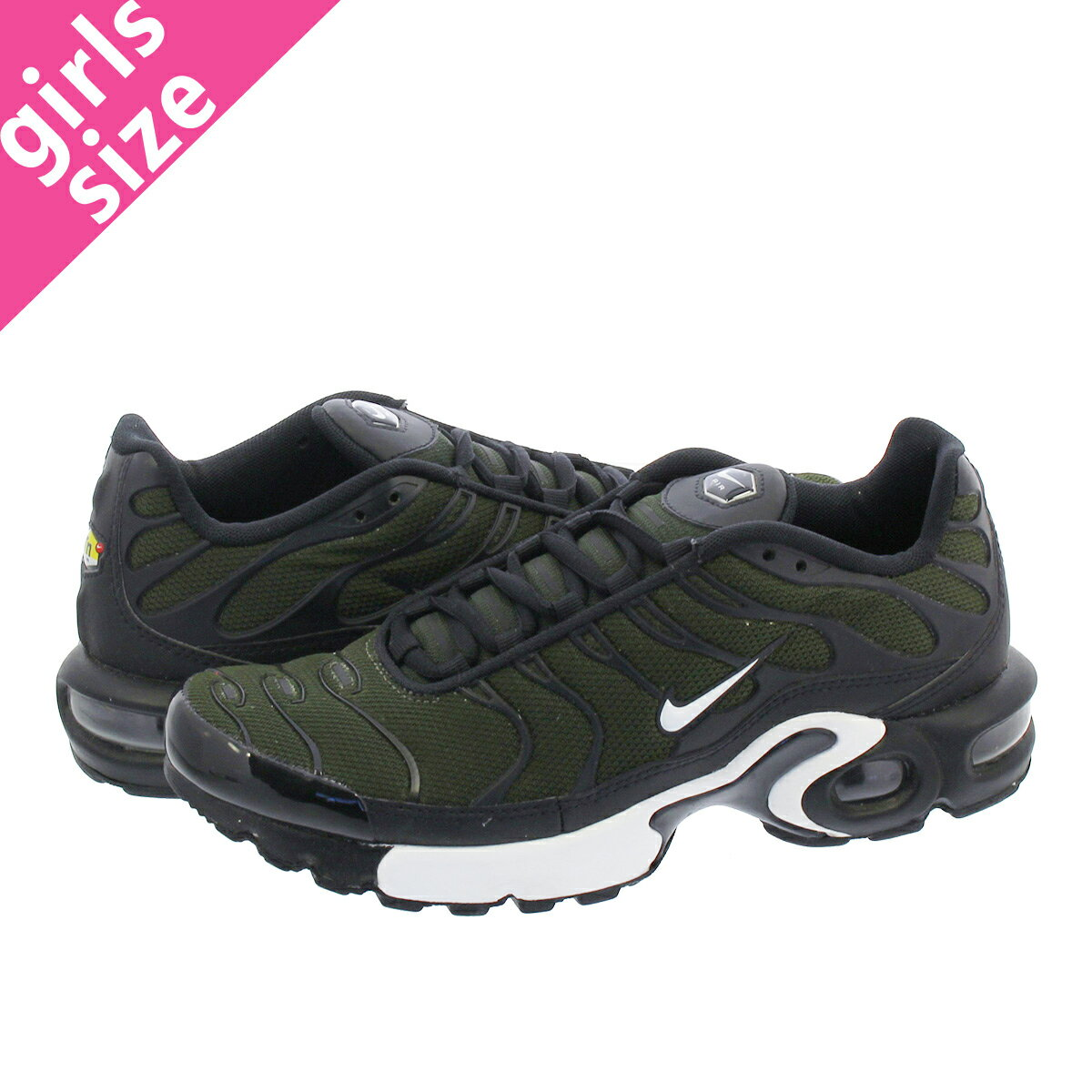 レディース靴, スニーカー  NIKE AIR MAX PLUS GS GS SEQUOIAWHITEBLACK 655020-302