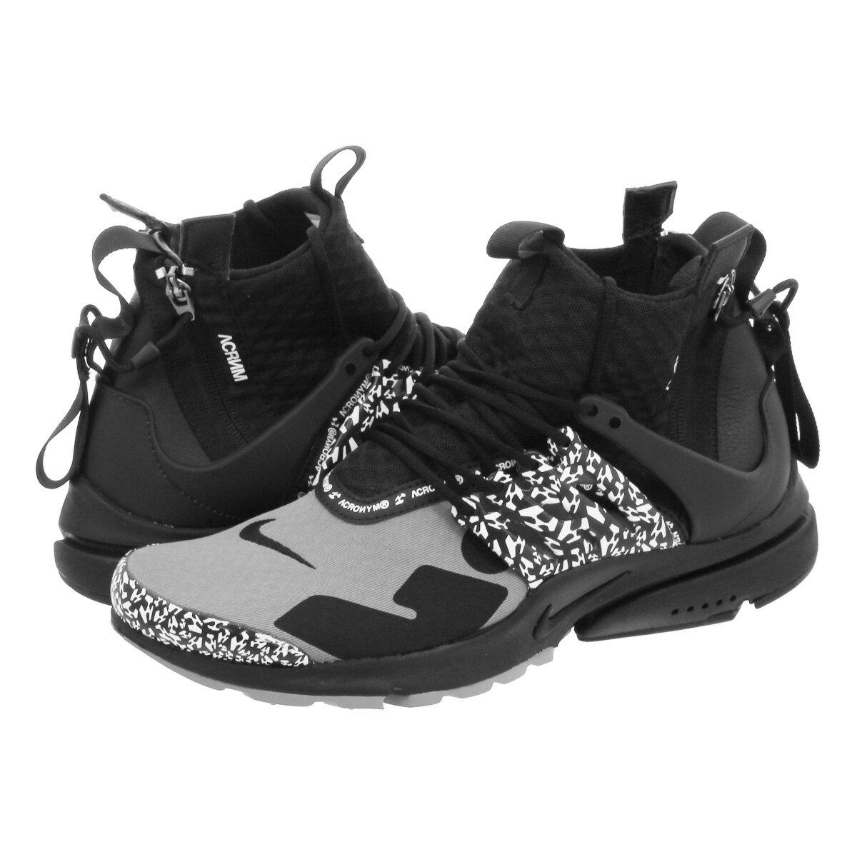 メンズ靴, スニーカー NIKE ACRONYM AIR PRESTO MID COOL GREYBLACK ah7832-001