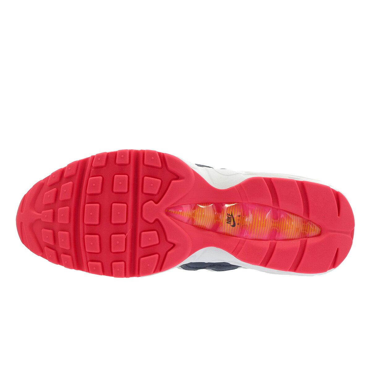NIKE WMNS AIR MAX 95 Nike women Air Max 95 PURE PLATINUMMIDNIGHT NAVYLASER ORANGE 307,960 405