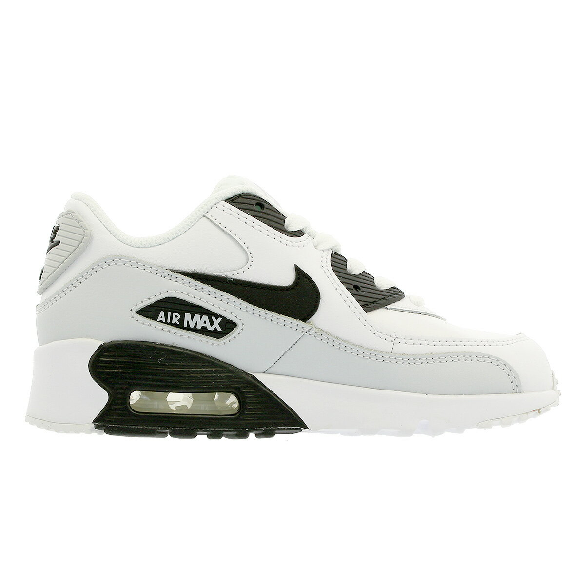 NIKE AIR MAX 90 LTR PS Kie Ney AMAX 90 leather PS WHITEBLACKPR PLATINUMWHITE 833,414 104