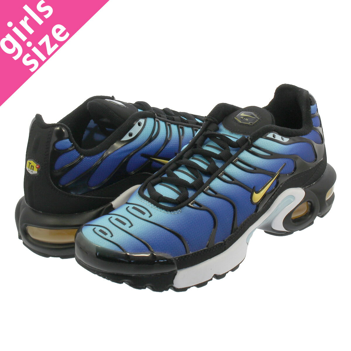 レディース靴, スニーカー NIKE AIR MAX PLUS OG GS OG GS BLACKCHAMOSSKY BLUE bv7426-003