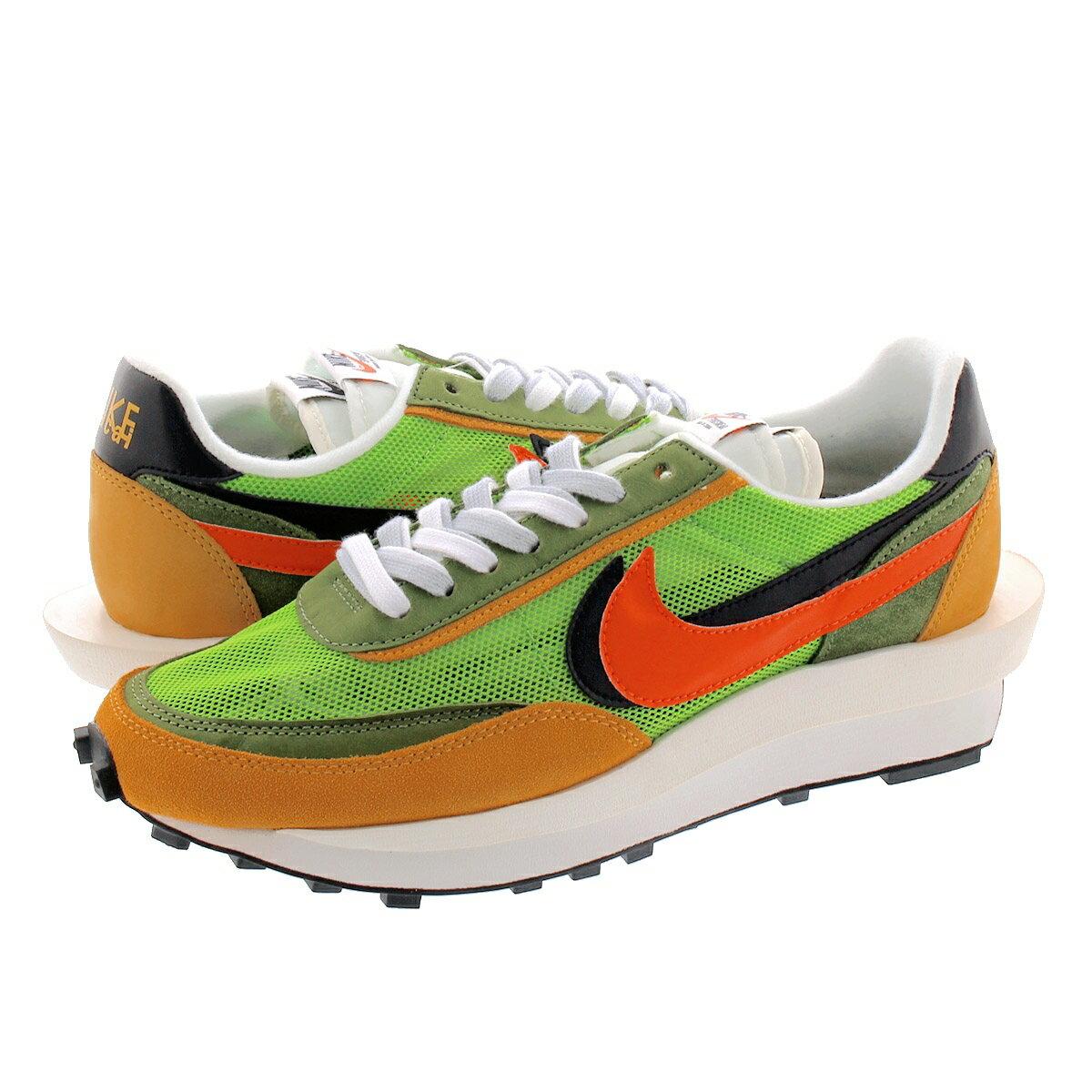 メンズ靴, スニーカー sacai x NIKE LD WAFFLE x LD GREEN GUSTOSAFETY ORANGE bv0073-300