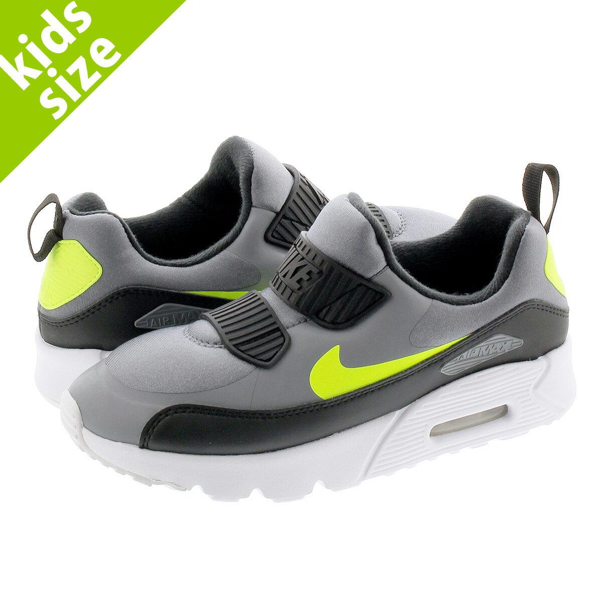 靴, スニーカー 16.022.0cm NIKE AIR MAX 90 TINY PS 90 PS COOL GREYVOLTBLACK 881927-019