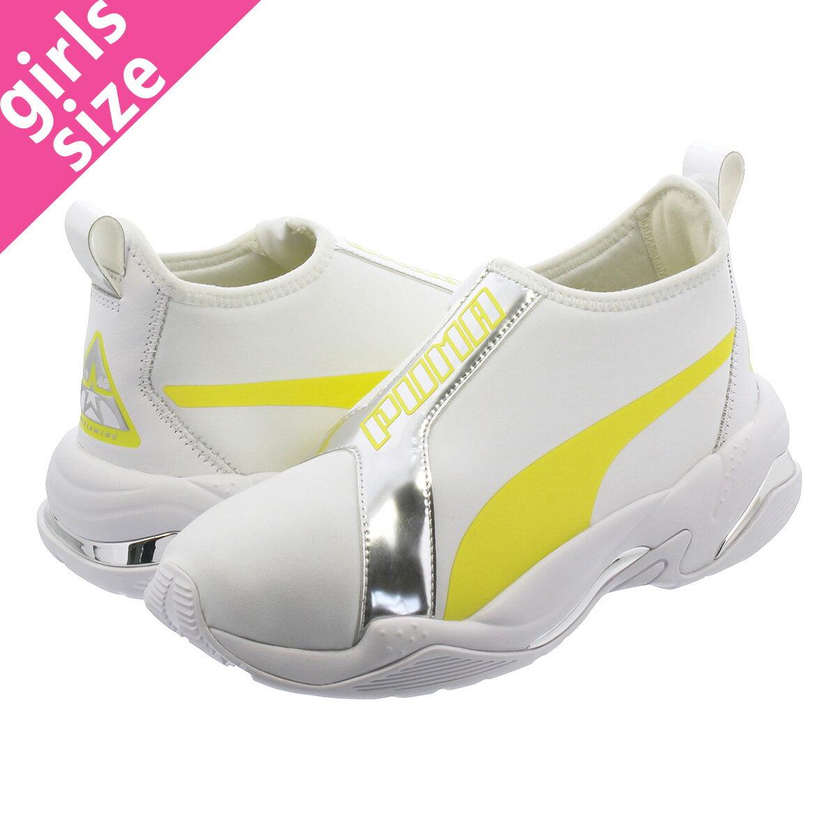 レディース靴, スニーカー  PUMA THUNDER TZ METALIC WMNS TZ WHITEBLAZING YELLOW 369488-01