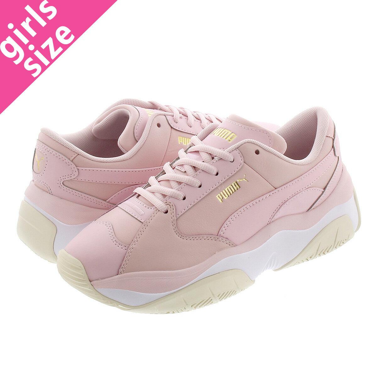 レディース靴, スニーカー  PUMA STORMY L WNS L PARFAIT PINK 372166-01