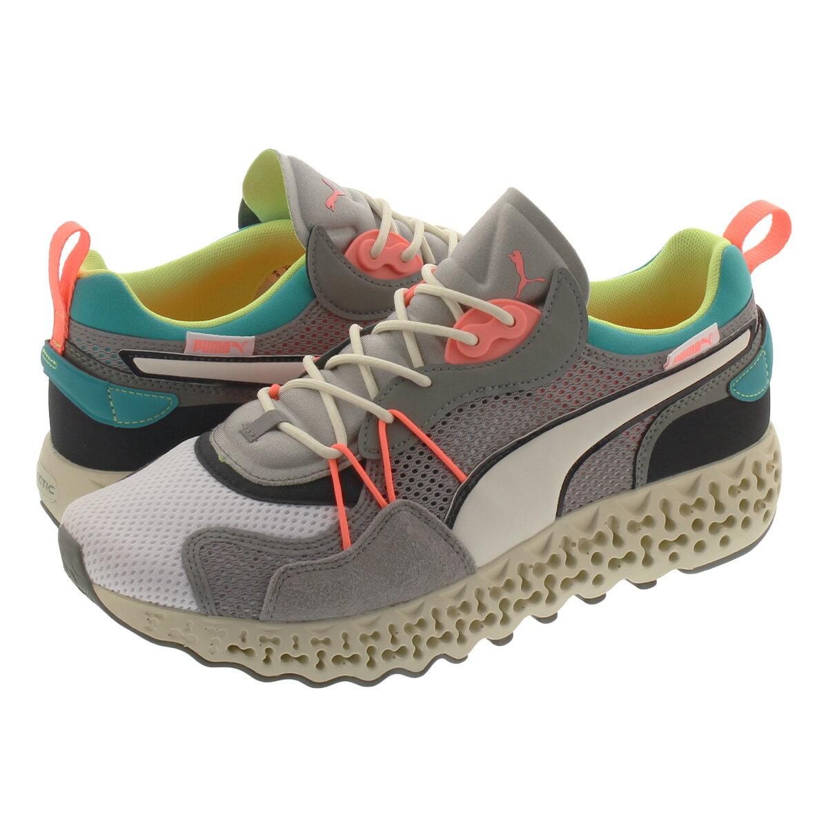 メンズ靴, スニーカー  PUMA CALIBRATE RESTORE WHITEVIRIDIAN GREEN 373529-01