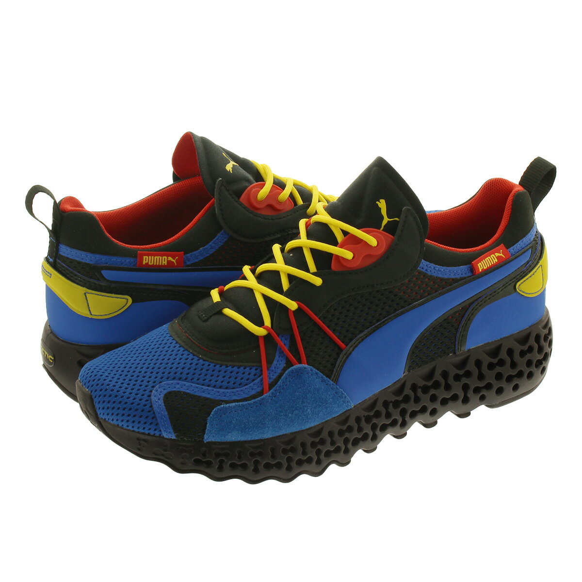 メンズ靴, スニーカー PUMA CALIBRATE RESTORE LAPIS BLUEFIZZY YELLOW 373529-02