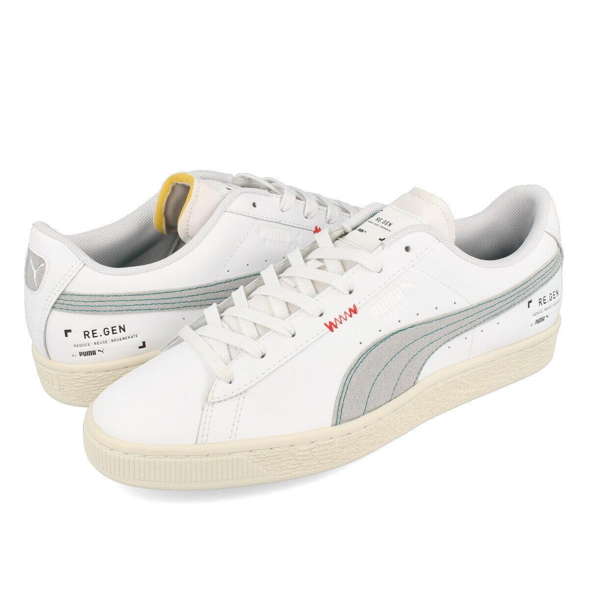 レディース靴, スニーカー  PUMA BASKET CLASSIC XXI RE.GEN 21 . WHITEWHISPER WHITE 382313-01