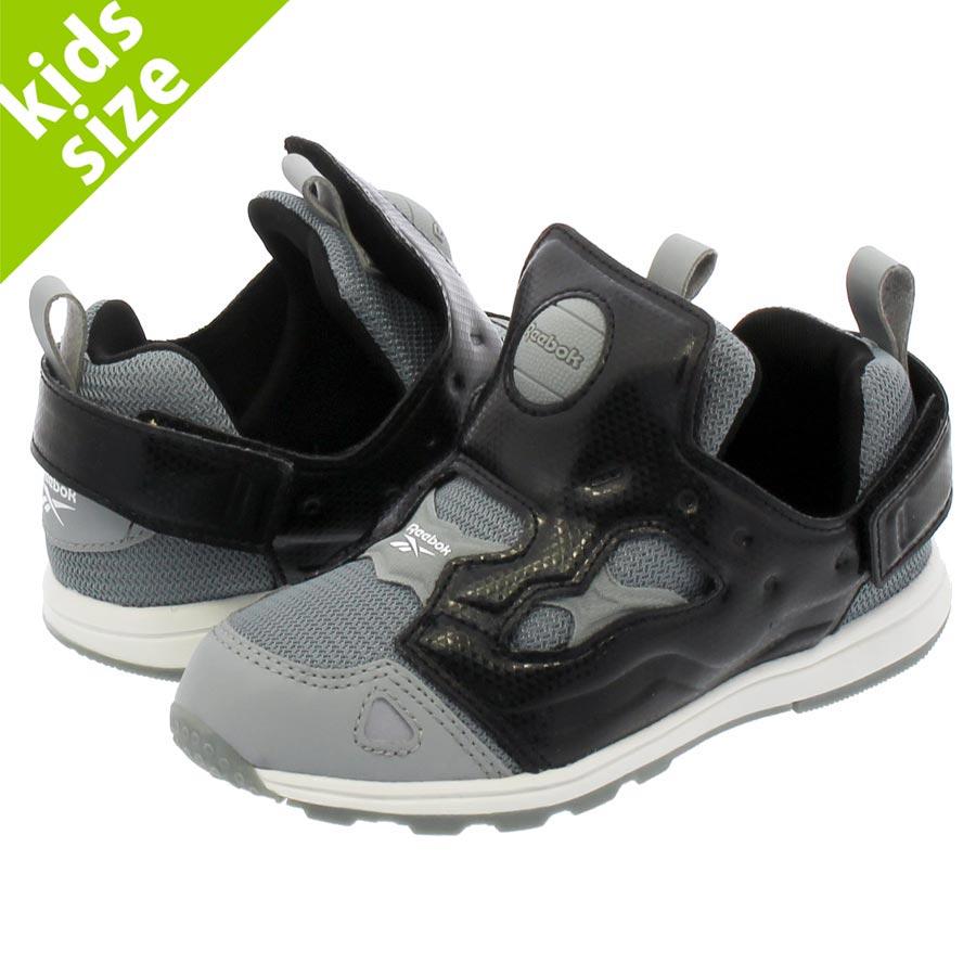 Kids Reebok Classic Sneakers Infants Versa Pump Fury Shoes Gray Orange See Sizes