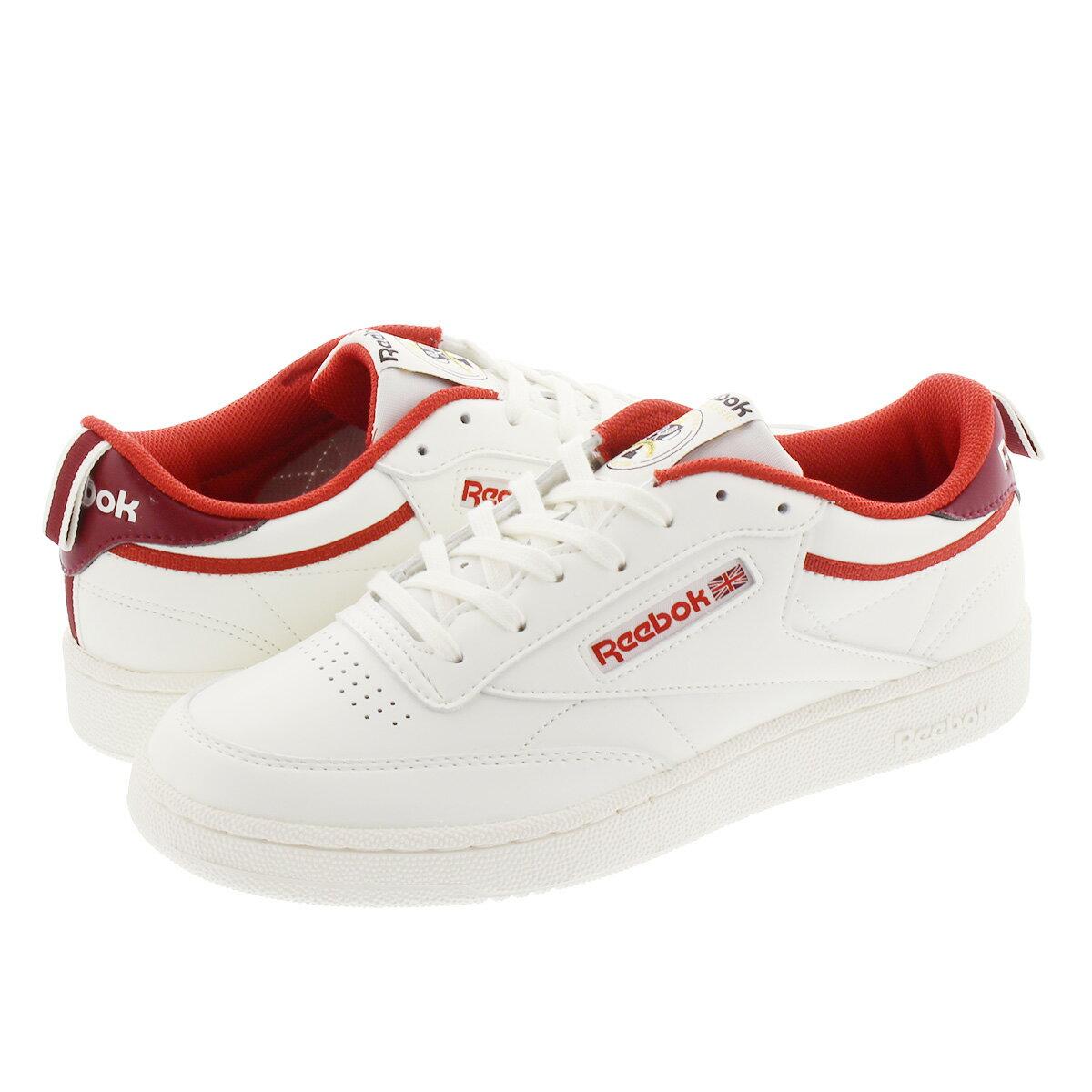 メンズ靴, スニーカー Reebok CLUB C 85 C 85 LEGACY REDMERLOTCHALK fx3358