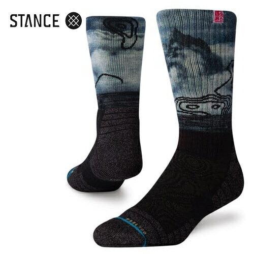 ユニセックス, 靴下・レッグウェア STANCE SOCKS ALTITUDE CREW BLACK a588a20alt