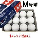 【あす楽対応】ナガセケンコー 野球 軟式 M号 検定球 試合球 1ダース(12個入) ボール 新球 新規格 公認球 JSBB 一般用 中学生用 KENKOBALL-M