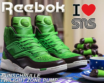 """REEBOK × SNS TWILIGHT ZONE PUMP """"PUNSCHRULLE"""" neon grn/earth-pwht"""
