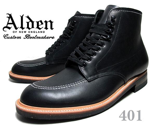ブーツ, ワーク !! !! 401ALDEN Indy Boots Black CHRMXL Leather