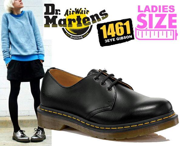 ブーツ, ワーク !! !! 3 Dr.Martens 1461W 3EYE GIBSON BLACK 1461 3EYE SHOE 3 R11837002
