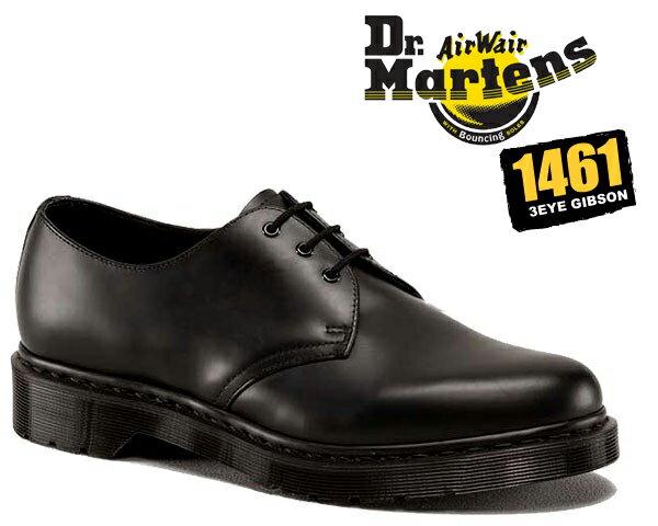 ブーツ, ワーク !! !! 3 Dr.Martens 1461 3EYE GIBSON MONO BLACK 1461 MONO 3EYE SHOE3 R14345001