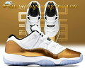 "【送料無料ナイキスニーカージョーダン11LOWカット】NIKEAIRJORDAN11RETROLOW""ClosingCeremony""wht/m.goldcoin-blk"