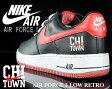 """【送料無料 ナイキ スニーカー エア フォース1】NIKE AIR FORCE 1 LOW RETRO """"CHI TOWN"""" blk/v.red-wht"""
