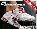 "【ナイキジョーダン6レディース】NIKEAIRJORDAN6RETROBG""ALTERNATE""wht/platinum-gymred"