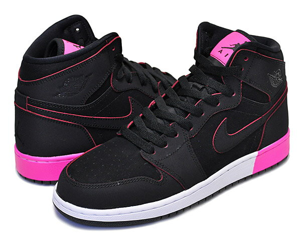 レディース靴, スニーカー !! !! NIKE AIR JORDAN 1 RETRO HIGH GG blkblk-hyper pink-wht