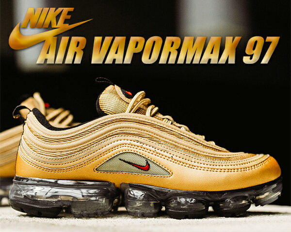 c09ac033e30  送料無料 ナイキ エア ヴェイパーマックス 97 NIKE AIR VAPORMAX 97 metallic gold varsity  red スニーカー メンズ エア マックス ヴェイパー マックス MAX 97 ...