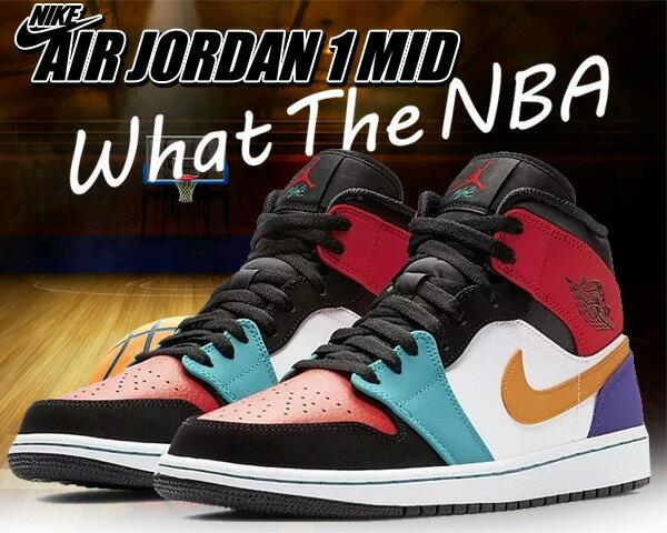メンズ靴, スニーカー !! !! 1 NIKE AIR JORDAN 1 MID WHAT THE NBA whiteuniversity red-black AJ1 MID 554724-125