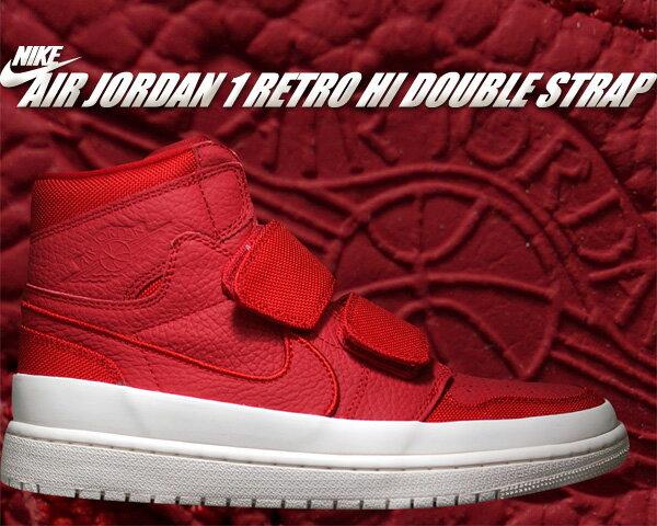 メンズ靴, スニーカー !! !! 1NIKE AIR JORDAN 1 RETRO HI DOUBLE STRAP gym redgym red-sail-white aq7924-601 AJ1