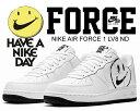 お得な割引クーポン発行中!!【あす楽 対応!!】【送料無料 ナイキ エアフォース 1】 NIKE AIR FORCE 1 LV8 ND Have A Nike Day white/white-black スニーカー ハブ ア ナイキ デイ ホワイト スマイル
