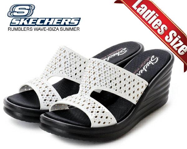 サンダル, スポーツサンダル !! !! SKECHERS RUMBLERS WAVE-IBIZA SUMMER WHITE CALI MEMORY FOAM
