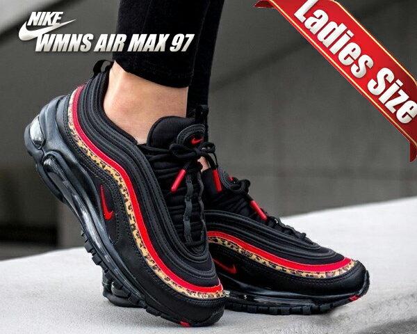 レディース靴, スニーカー !! !! 97NIKE WMNS AIR MAX 97 ANIMAL PRINT blackuniversity red-print bv6113-001